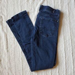 7 For All Mankind Distressed Skinny Jeans Sz 27